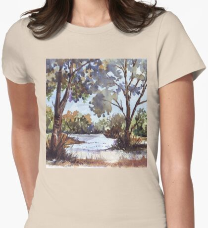 Blue gums. The first light of day Womens Fitted T-Shirt