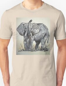 African Elephant sketch Unisex T-Shirt