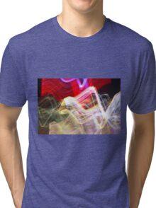 Long Exposure Fireworks Tri-blend T-Shirt