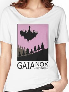 Stargate SG1 - Retro Travel Poster (Gaia - Nox Homeworld) Women's Relaxed Fit T-Shirt