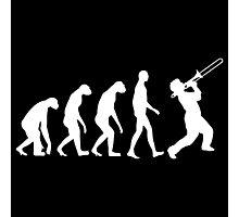 Trombone Evolution Photographic Print