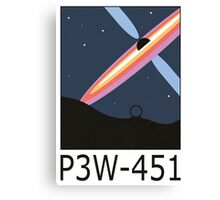 Stargate SG1 - Retro Travel Poster (P3W-451 Blackhole) Canvas Print