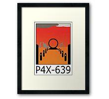 Stargate SG1 - Retro Travel Poster (P4X-639 - Time Loop) Framed Print