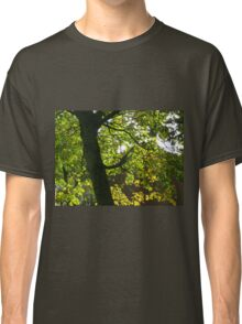 Tree Silhouette with Backlit Leaves Classic T-Shirt