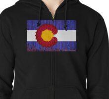 aspen tree Colorado flag Zipped Hoodie