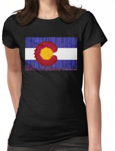 aspen tree Colorado flag Womens Fitted T-Shirt