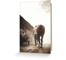 Foggy Walk Greeting Card