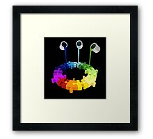 Paint Buckets Drop Over Puzzle Framed Print