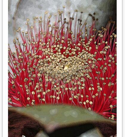 The Fabulous Mottlecah Flower Sticker