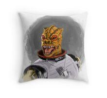 Bossk The Bounty Hunter Throw Pillow