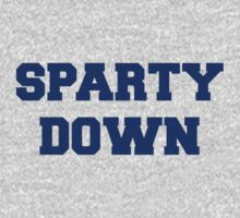 Sparty Down! One Piece - Short Sleeve