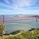 Golden Gate San Francisco from Hawk Hill by TonyCrehan