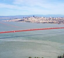 Golden Gate San Francisco from Hawk Hill Sticker