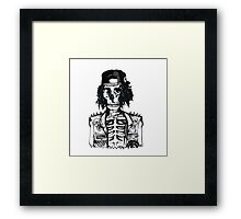 BORING SKULL Framed Print