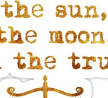 The Sun, The Moon and The Truth Sticker