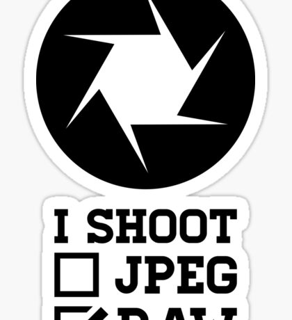 I Shoot? - Photography Sticker
