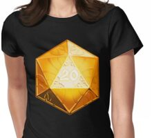NATURAL 20 CRITICAL SUCCESS D20 DICE Womens Fitted T-Shirt