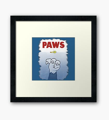 Paws Cat Parody Framed Print