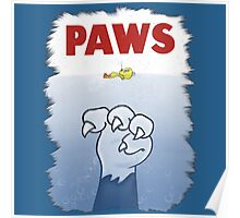 Paws Cat Parody Poster