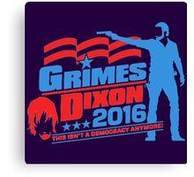 Grime Dixon Democrazy Canvas Print