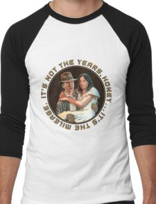 Indiana Jones - It's Not the Years, It's the Mileage. Men's Baseball ¾ T-Shirt