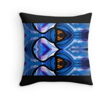 stained glass fish bowl Throw Pillow