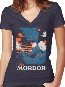 Visit Mordor Women's Fitted V-Neck T-Shirt