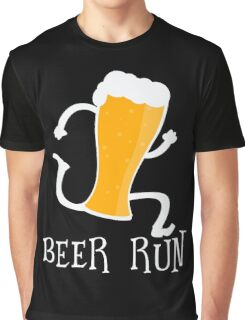 Funny Beer Run T Shirt Graphic T-Shirt
