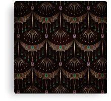 Retro pattern old art deco grunge textile print fabric background Canvas Print