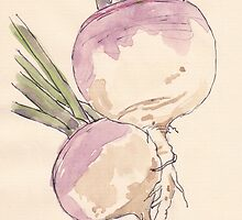 Sweet, delicate Turnips, Vegan delight - Botanical by Maree Clarkson
