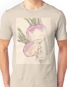 Sweet, delicate Turnips, Vegan delight - Botanical Unisex T-Shirt