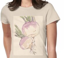 Sweet, delicate Turnips, Vegan delight - Botanical Womens Fitted T-Shirt