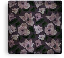 Vintage grunge floral pattern old retro print textile fabric background Canvas Print
