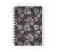 Vintage grunge floral pattern old retro print textile fabric background Spiral Notebook