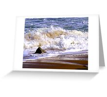 Tides frothy waves Greeting Card