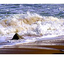 Tides frothy waves Photographic Print
