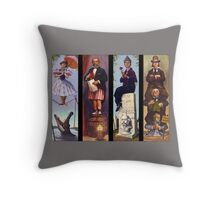 Haunted mansion all character Throw Pillow