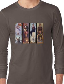 Haunted mansion all character Long Sleeve T-Shirt