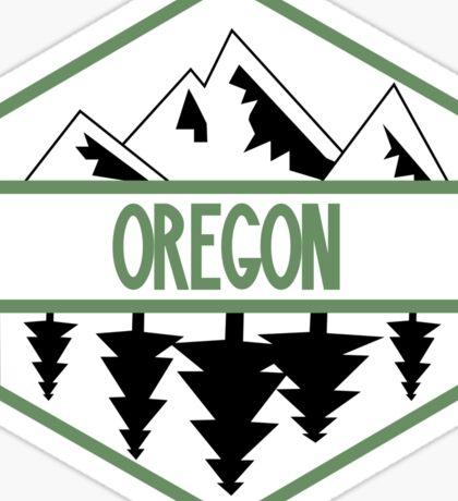 Oregon Tree/Mountian Badge Sticker