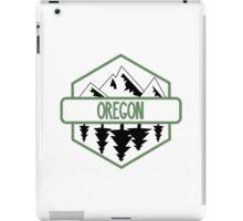 Oregon Tree/Mountian Badge iPad Case/Skin