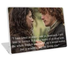 Outlander/Jamie & Claire Fraser Laptop Skin