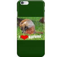 Badger - I love nature (heart) iPhone Case/Skin
