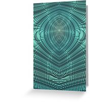 Mirrored folds in blue Greeting Card