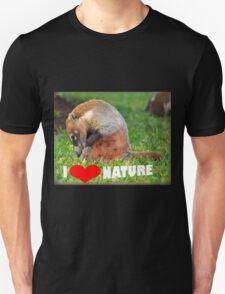 Badger - I love nature (heart) T-Shirt
