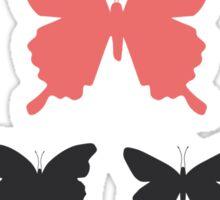 black butterflies  Sticker