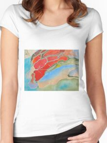 the landscape Women's Fitted Scoop T-Shirt