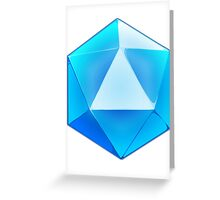 Blue D20 Dice Greeting Card