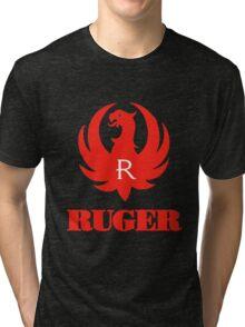 ruger red logo Tri-blend T-Shirt