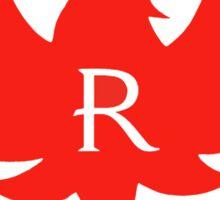 ruger red logo Sticker