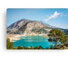 Overlooking Orxeta reservoir Canvas Print